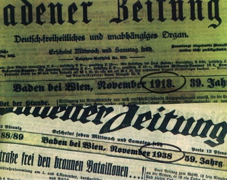 Sonderschau Aufbruch/Umbruch – Rückblick auf 1918 und 1938 in Baden